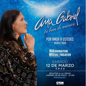 Read more about the article ¡Llega Ana Gabriel a Washington!  compra tus boletos  en Ticketmaster.com #LaLunaDeAmerica